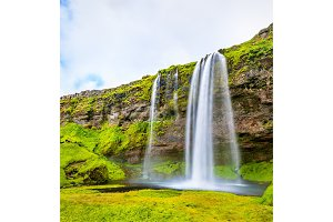 View of Seljalandsfoss waterfall - Iceland