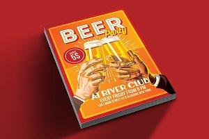 Beer Party Happy Hour Flyer Poster