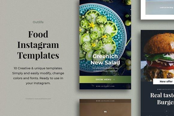 Outlife Food Instagram Templates