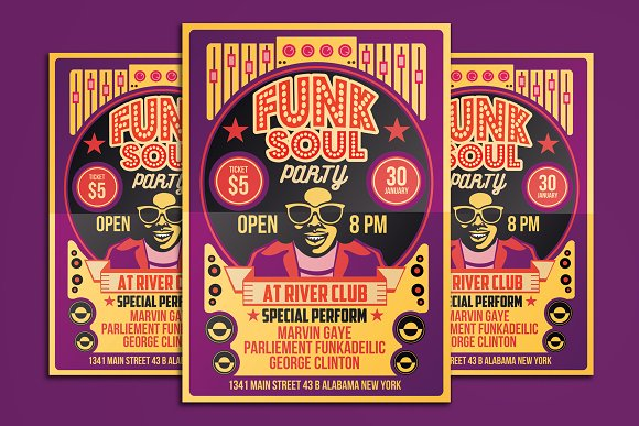 Funk Soul Party Flyer Poster