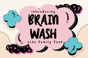 Brain Wash Typeface