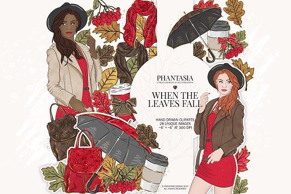 Fall Fashion Watercolor Clipart