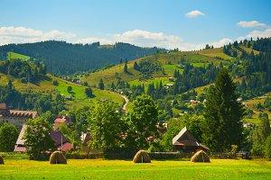 Carpathians mountain village Ukraine