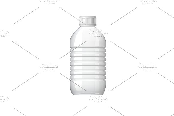 Realistic Plastic Bottle For Water