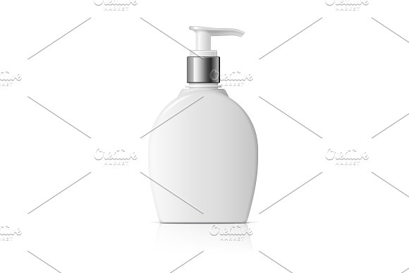 Realistic Cosmetic Bottle Oval Shape