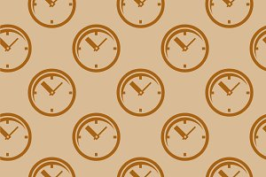 Clock. Seamless pattern Vector