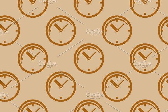 Clock Seamless Pattern Vector