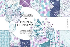 Frozen Winter Digital Paper Pack