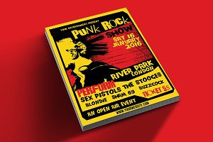 Punk Rock Show flyer tamplate