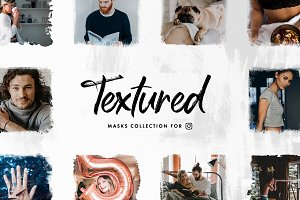 Textured —  Instagram Masks Set