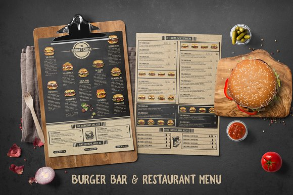 Burger Bar Restaurant Menu