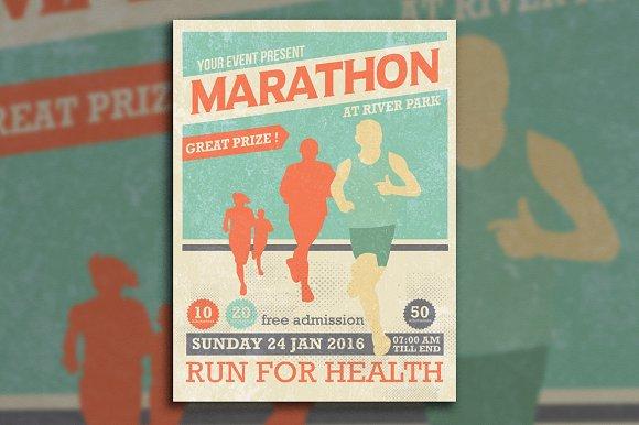 Marathon Event Flyer Template