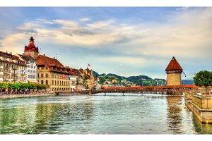 The river Reuss in Lucerne, Switzerland