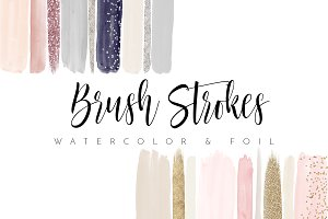 Watercolor Brush Strokes Blush Nudes