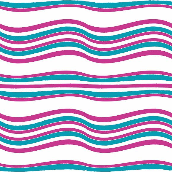 Colorful Wavy Stripes Pattern
