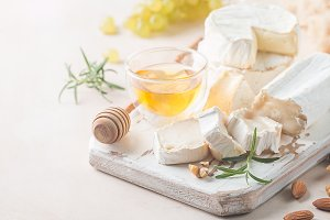 Camembert and brie cheese