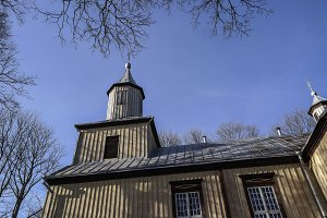 Old Lithuanian Wooden catholic Church.