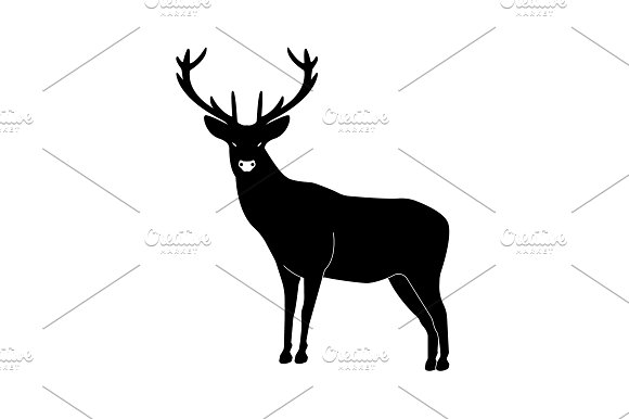 Deer With Great Antler Icon