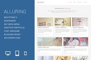 Alluring - Blogging Template