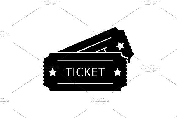 Ticket Icon Vector Illustration