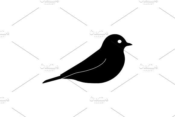 Bird Icon Vector Illustration Black