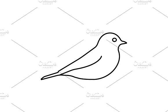 bird line icon. vector illustration