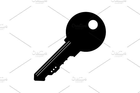 Key Icon. vector illustration  black