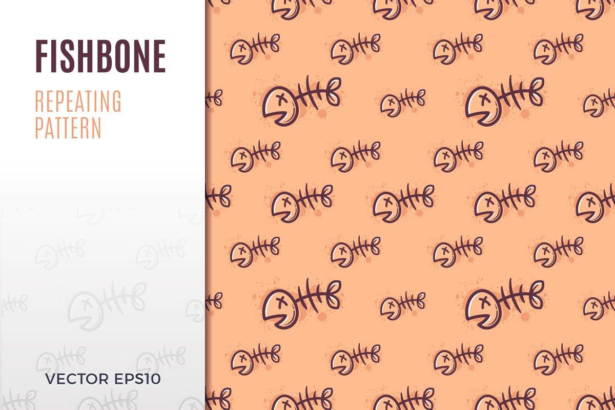 fishbone pattern illustrations creative market