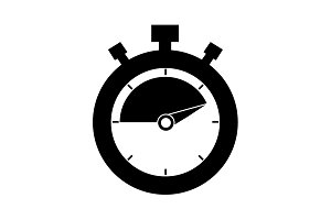 timer icon. stopwatch. vector