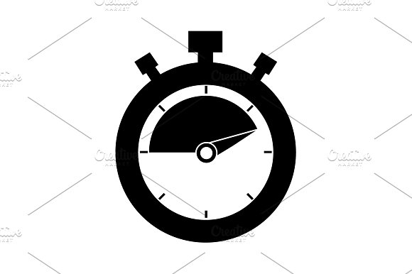 Timer Icon Stopwatch Vector