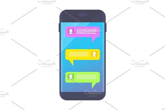 Message On Dark Smartphone