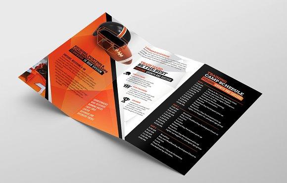 football camp brochure template brochure templates creative market