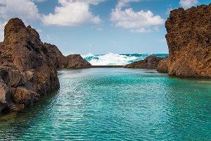 Natural lava-rock pools