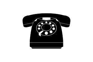 old phone icon. vector illustration