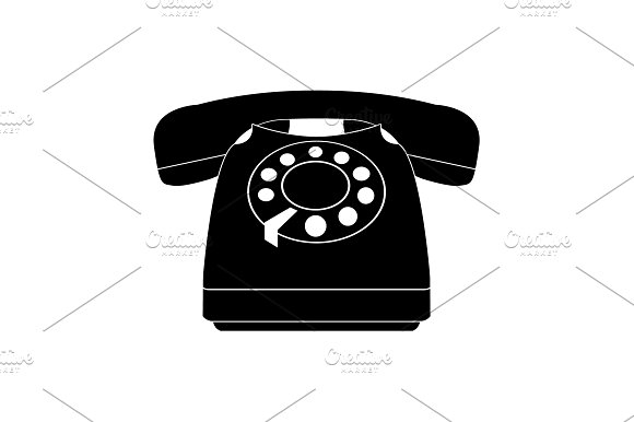 Old Phone Icon Vector Illustration