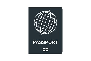passport black icon