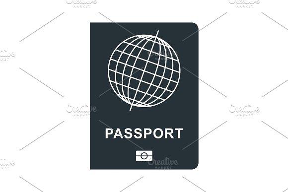 Passport Black Icon
