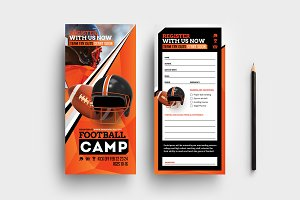 Football Camp DL Card Template