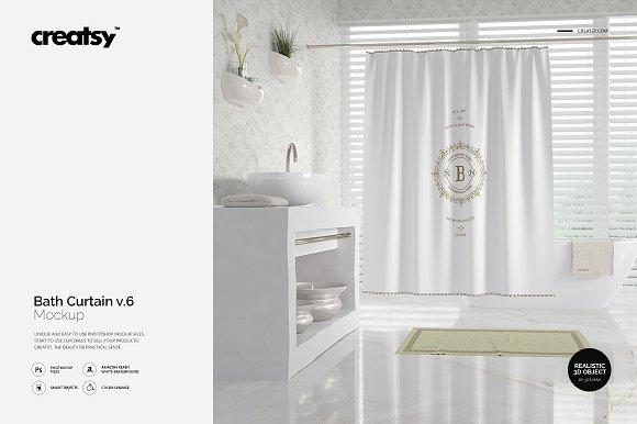 Bath Curtain Mockup V.6