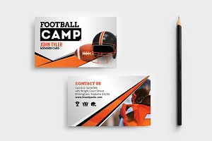 Football Camp Business Card Template