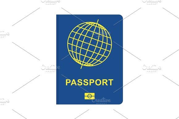 passport blue flat