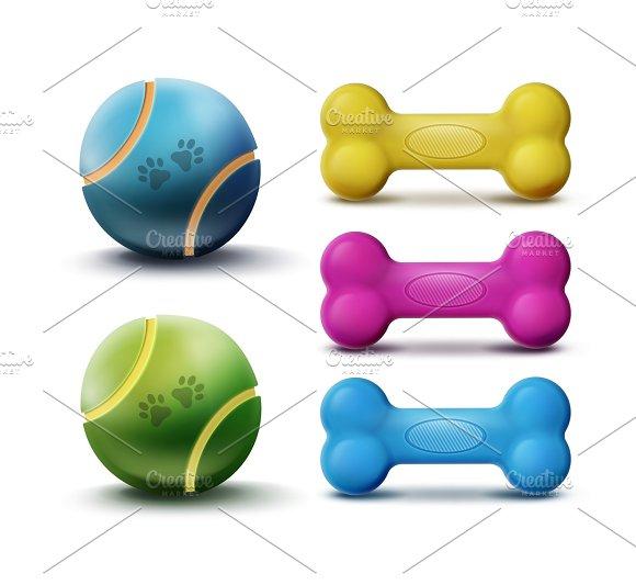 Vector pet toys