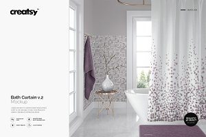 Bath Curtain Mockup 2
