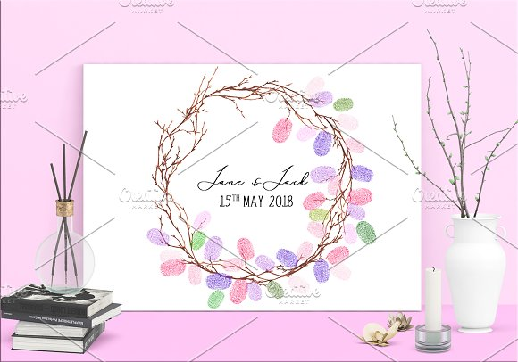 Wedding Fingerprint Wreath