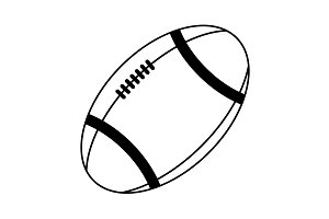 American football ball vector line