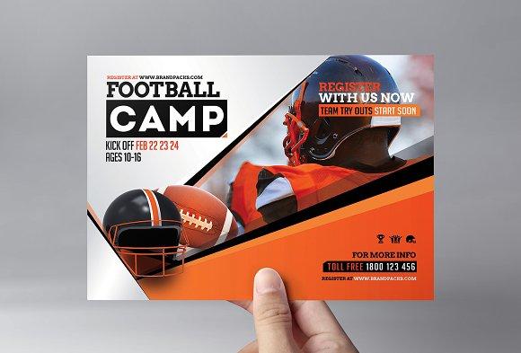 Football Camp Flyer Template Flyer Templates Creative Market