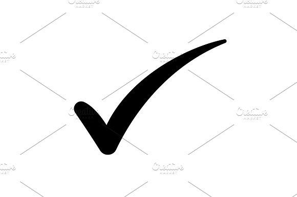Check Mark Symbol Vector Black Graphics Creative Market