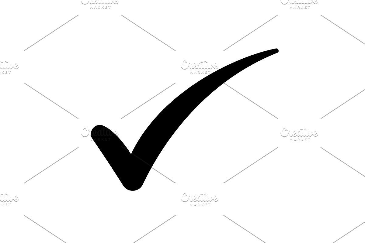 Check mark symbol, vector black