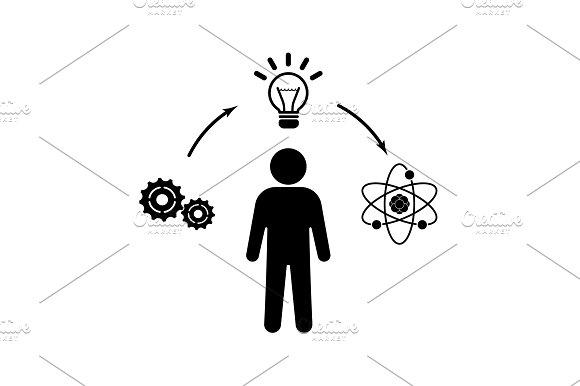 Creative Thinking Icon Vector