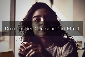 Dramatic Red Cinematic Dark Effect